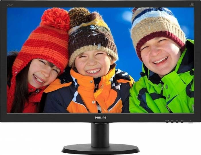 imagine 0 Monitor LED 23.8 Philips 240V5QDAB FullHD Black 240v5qdab/00