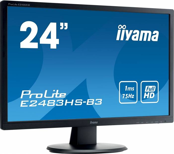 imagine 2 Monitor LED 24 Iiyama ProLite E2483HS-B3 Full HD 1ms e2483hs-b3