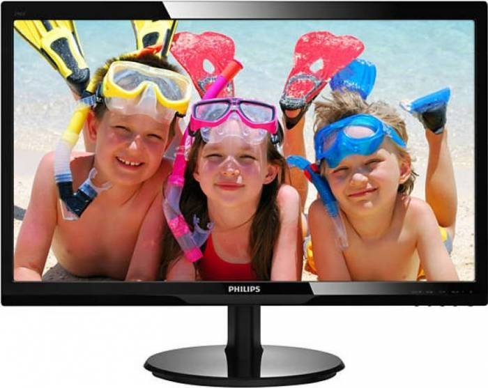 imagine 0 Monitor LED 24 Philips 246V5LDSB/00 Full HD 1ms 246v5ldsb/00