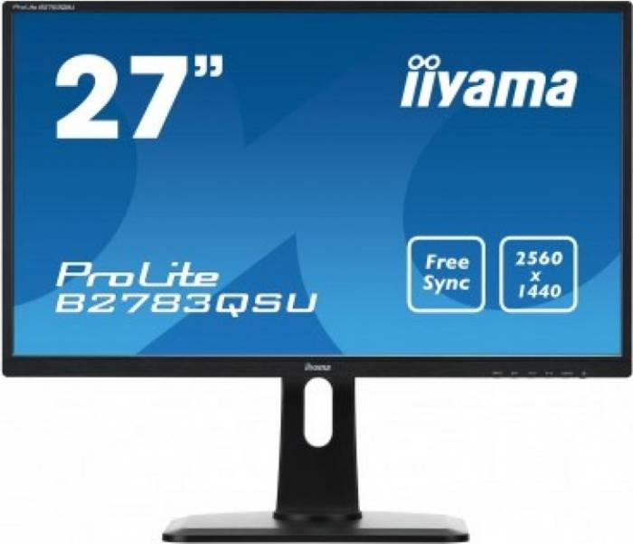 imagine 0 Monitor LED 27 Iiyama B2783QSU-B1 WQHD 1ms b2783qsu-b1