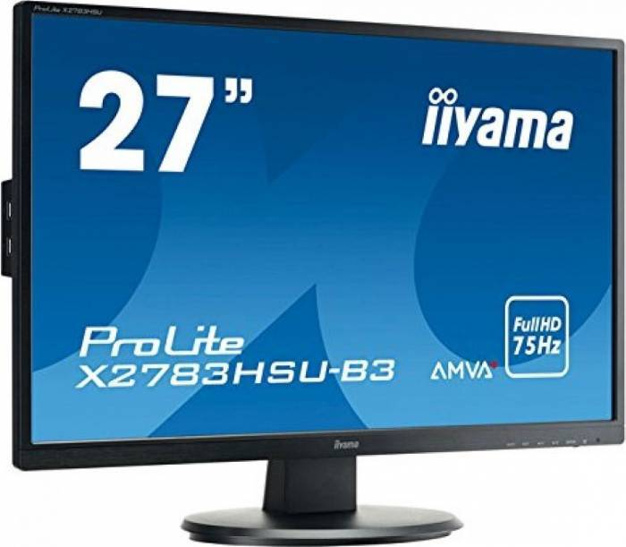 imagine 0 Monitor LED 27 Iiyama ProLite X2783HSU-B3 Full HD 4ms x2783hsu-b3