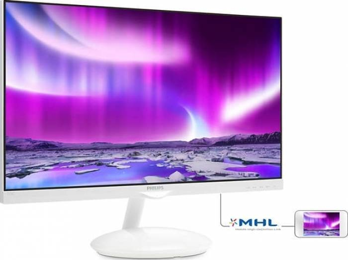 imagine 0 Monitor LED 27 Philips 275C5QHGSW FullHD Stativ AmbiGlow Plus White 275c5qhgsw/00