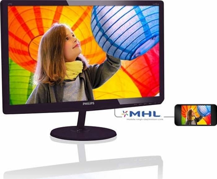 imagine 1 Monitor LED 27 Philips 277E6LDAD FullHD Black 277e6ldad/00