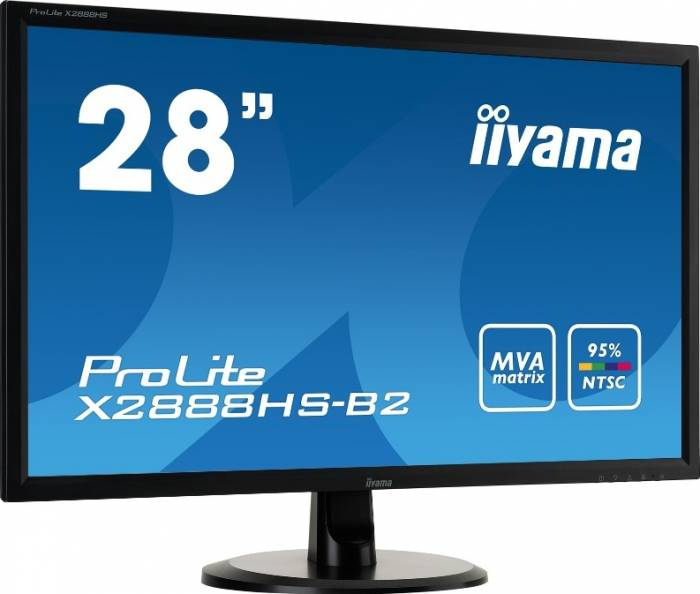 imagine 1 Monitor LED 28 Iiyama Prolite X2888HS-B2 Full HD 5ms Negru x2888hs-b2