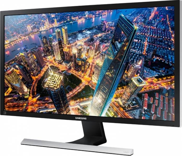 imagine 1 Monitor LED 28 Samsung LU28E590DS UHD 4K 1 ms Negru lu28e590ds/en