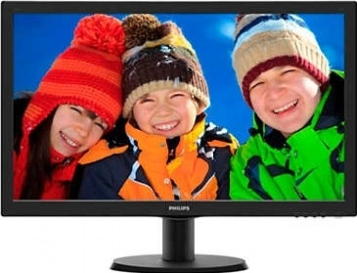 imagine 0 Monitor LED Philips 243V5LHSB00 23.6 inch Full HD Negru 243v5lhsb/00