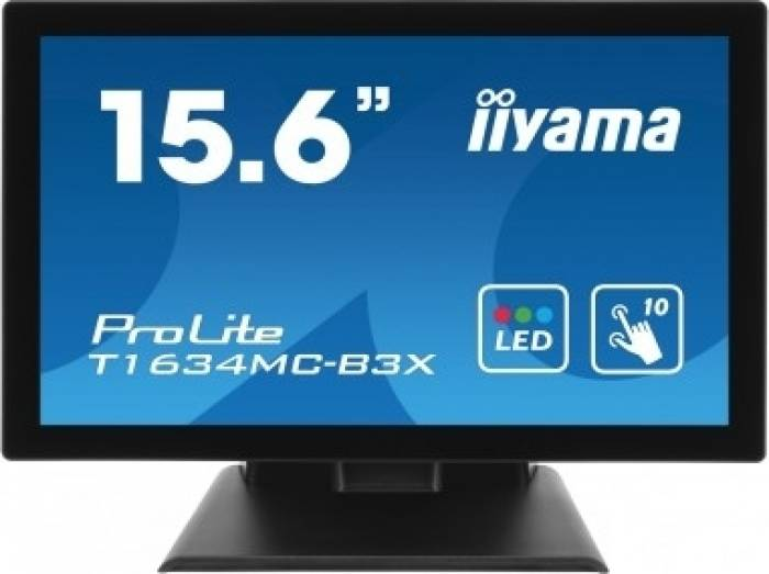imagine 0 Monitor LED Touchscreen Iiyama Prolite T1634MC-B3X 15 inch Negru t1634mc-b3x