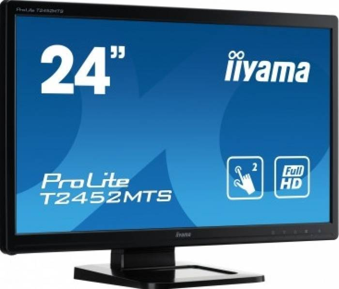 imagine 1 Monitor LED Touchscreen Iiyama T2452MTS-B4 23.6 inch Full HD Negru t2452mts-b4