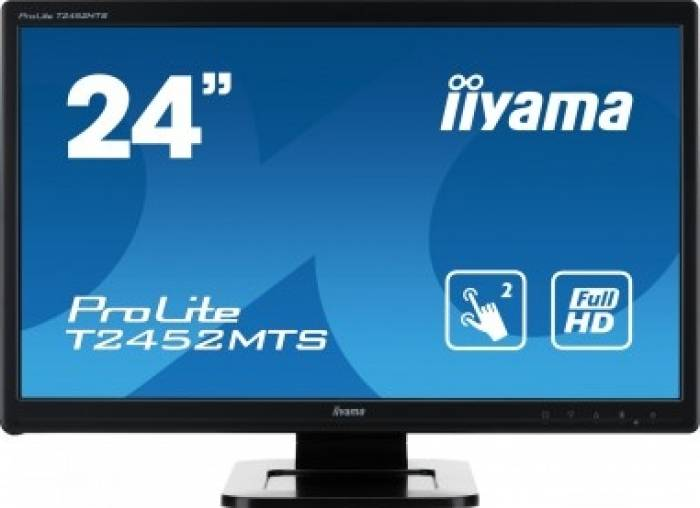 imagine 0 Monitor LED Touchscreen Iiyama T2452MTS-B4 23.6 inch Full HD Negru t2452mts-b4