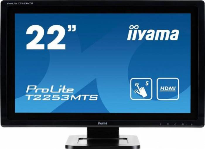 imagine 0 Monitor Touchscreed 22 Iiyama Prolite T2253MTS-B1 Full HD Boxe 2ms Black t2253mts-b1