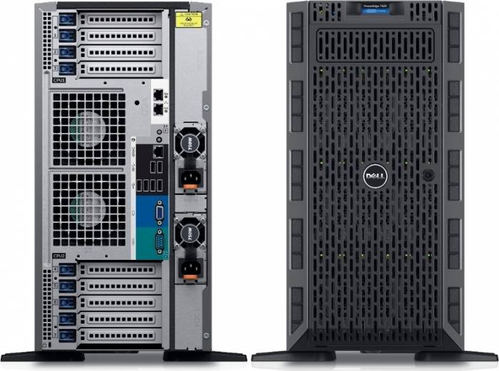 imagine 1 Server Configurabil Dell PowerEdge T630 TWR E5-2620v3 noHDD 16GB dpet630e52630v316gnhi-05