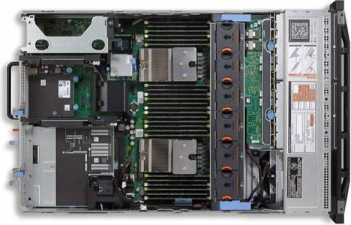 imagine 2 Server DELL PowerEdge R720 Rackabil 2U 2 x Intel Octa Core Xeon E5-2670 32GB 2x480GB SSD rfb_31068