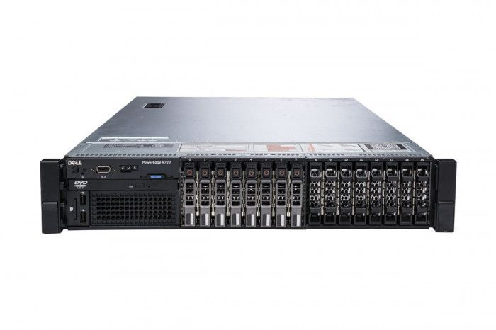 imagine 0 Server Refurbished DELL POWEREDGE R720 2x Intel Xeon E5-2603 V2 64GB 4 x 900GB 10K SAS H710 2 x Surse Redundante 750w dellr720e52623