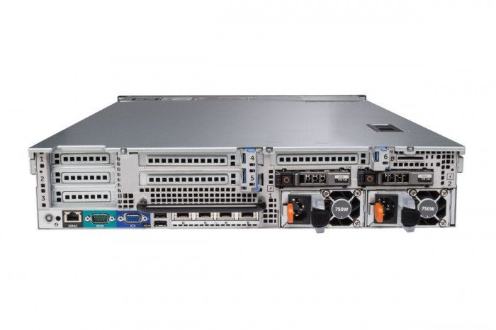 imagine 1 Server Refurbished DELL PowerEdge R720 Rackabil 2U 2x Intel Six Core Xeon E5-2620 64GB DDR3 ECC 4x 900GB SAS 2x Surse Redundante 750W dellr720e52621