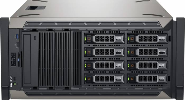 imagine 1 Sistem Server Dell PowerEdge T440 Intel Xeon Silver Skylake 4110 120GB 16GB iDRAC9 PERC H330 Dual Rank pet440cee01