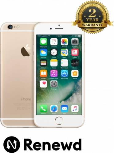 imagine 0 Telefon Mobil Apple iPhone 6s 64GB Gold Renewd TRENEWDIPH6S64GBGLD