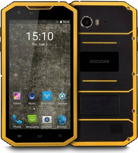 imagine 0 Telefon mobil GoClever Quantum 5 500 Rugged Dual Sim 4G Black-Orange fq5500rug