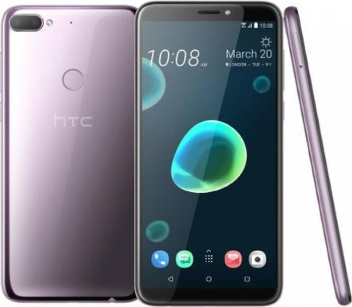 imagine 0 Telefon mobil HTC Desire 12 Plus 32GB Dual Sim 4G Warm Silver desire 12+ ds silver
