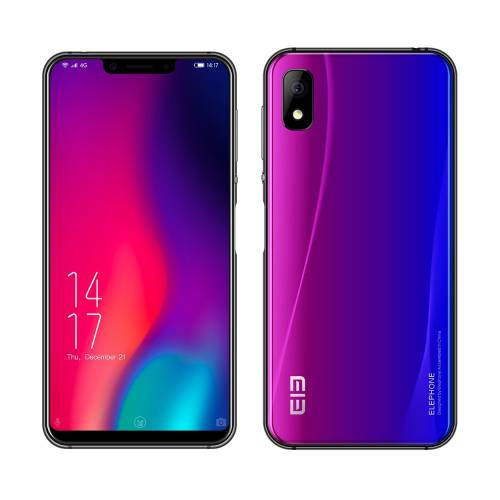 imagine 0 Telefon Mobil Elephone A4 Pro Violet 4G 5.85 inch Android 8.1 MT6763 Octa Core 2.0GHz 4GB RAM 64GB ROM 16.0 MP elephone a4 pro purple