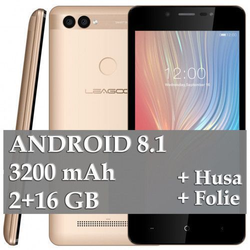 imagine 0 Telefon mobil Leagoo Power 2 16GB Dual Sim 3G Gold lg-power2-gd