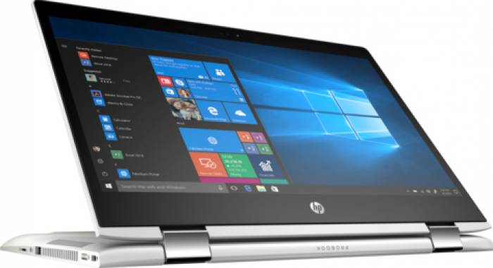imagine 1 Ultrabook 2in1 HP ProBook x360 440 G1 Intel Core Kaby Lake R (8th Gen) i5-8250U 256GB SSD 8GB Win10 Pro FullHD FPR Silver 4ls89ea