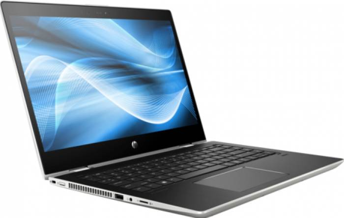 imagine 4 Ultrabook 2in1 HP ProBook x360 440 G1 Intel Core Kaby Lake R (8th Gen) i5-8250U 256GB SSD 8GB Win10 Pro FullHD FPR Silver 4ls89ea