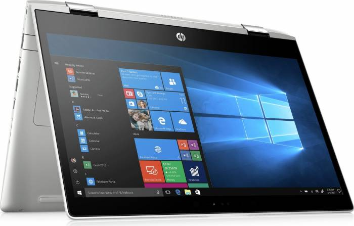 imagine 3 Ultrabook 2in1 HP ProBook x360 440 G1 Intel Core Kaby Lake R (8th Gen) i7-8550U 256GB SSD 8GB nVidia GeForce MX130 2GB Win10 Pro FHD FPR 4ls94ea