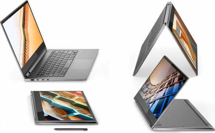 imagine 3 Ultrabook 2in1 Lenovo Yoga C930-13IKB Intel Core Kaby Lake R (8th Gen) i5-8250U 512GB 8GB Win10 FullHD Gri 81C40068RM