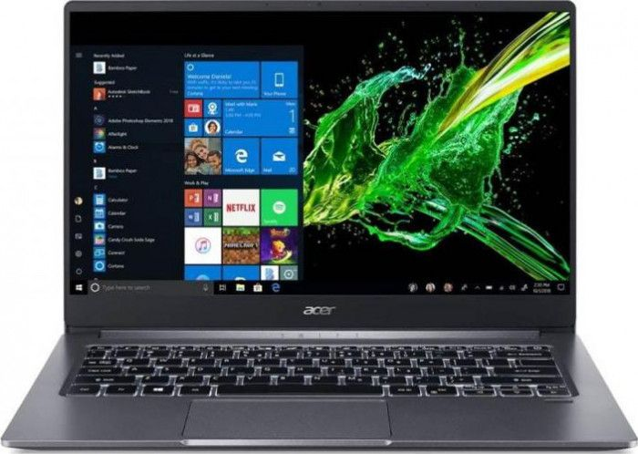 imagine 0 Ultrabook Acer Swift 3 Intel Core (10th Gen) i3-1005G1 512GB SSD 8GB FullHD Win10 FPR Steel Gray NX.HJFEX.009