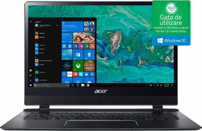 imagine 0 Ultrabook Acer Swift 7 Intel Core Kaby Lake i7-7Y75 256GB SSD 8GB Win10 FullHD Obsidian Black nx.guhex.001