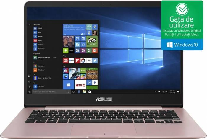 imagine 0 Ultrabook Asus ZenBook UX430UA Intel Core Kaby Lake R (8th Gen) i5-8250U 256GB SSD 8GB Win10 FullHD ux430ua-gv356t