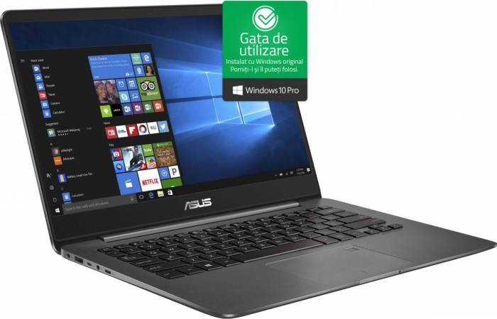 imagine 0 Ultrabook Asus ZenBook UX430UA Intel Core Kaby Lake R (8th Gen) i7-8550U 256GB SSD 16GB Win10 Pro FullHD Tastatura ilum. ux430ua-gv502r