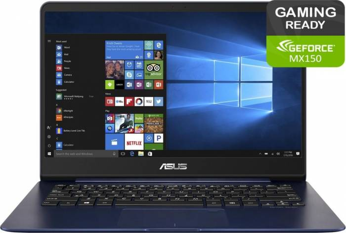 imagine 0 Ultrabook Asus ZenBook UX430UN Intel Core Kaby Lake R(8th Gen) i7-8550U 512GB 16GB nVidia MX150 2GB FHD Win10 Pro FPR ux430un-gv075r