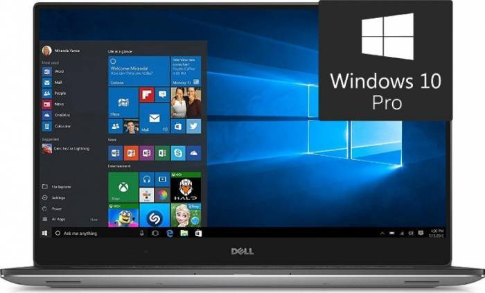 imagine 0 Ultrabook Dell XPS 9560 Intel Core Kaby Lake i7-7700HQ 1TB 16GB nVidia GeForce GTX 1050 4GB UHD  Win10 Pro Tast. il. FPR dxps9560ui7161w10p