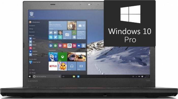 imagine 0 UltraBook Lenovo ThinkPad T460 Intel Core Skylake i7-6600U 512GB 32GB Win10 Pro FingerPrint Wigig Dock FullHD 4G lnv20fm0033ri