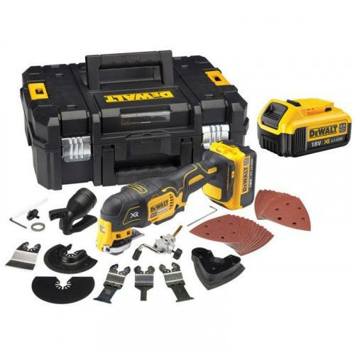 imagine 0 Unealta multifunctionala cu 2 acumulatori 18V 4.0 Ah DeWalt DCS355M2-QW dcs355m2-qw
