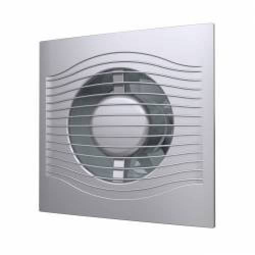 imagine 0 Ventilator de extractie SLIM 4C gray metal cu clapeta antiretur D 100 . Stil LOFT 16670