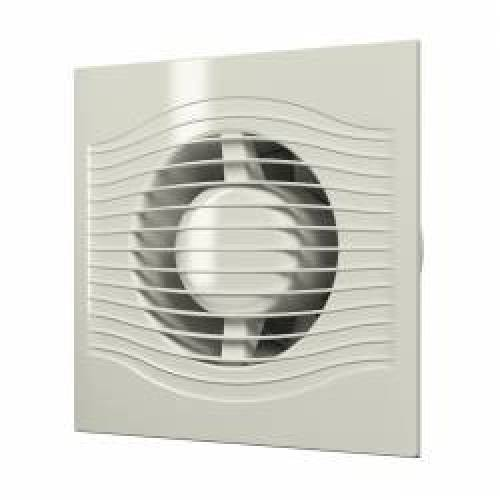 imagine 0 Ventilator de extractie SLIM 4C Ivory cu clapeta antiretur D 100 design era18041