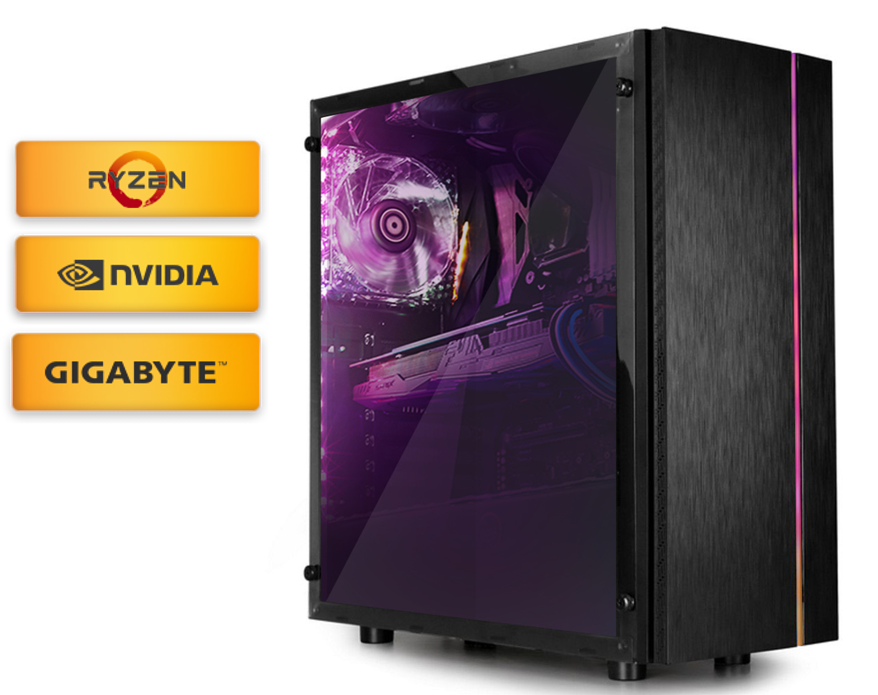 Calculatoare Desktop PC Gaming Diaxxa Limited Edition by GIGABYTE Ryzen 5 1600X 3.6GHz SSD 256GB 16GB DDR4 GTX 1660Ti OC 6GB
