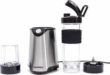 Blendere si Tocatoare Blender Albatros Energy Mix 2 in 1 600W 570ml 1 viteza Rasnita Lame si baza blender inox