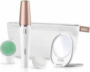 Aparate ingrijire ten Epilator Facial Braun Silk Epil 851V 3 in 1 pentru curatare faciala epilare si revitalizarea pielii Alb
