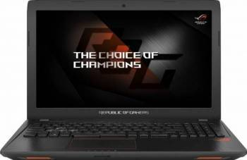 Laptop laptopuri Laptop Gaming Asus GL553VE Intel Core Kaby Lake i7-7700HQ 256GB SSD 8GB nVidia GeForce GTX 1050 Ti 4GB FullHD Endless