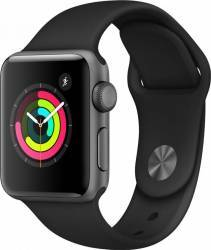 Smartwatch Smartwatch Apple Watch 3 GPS 42mm Space Grey Aluminium Case with Black Sport Band